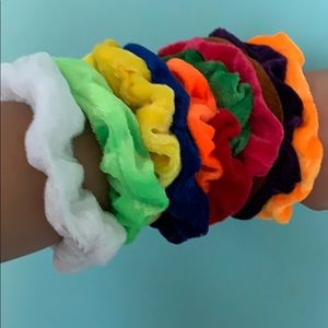 Velvet scrunchies lot (10)